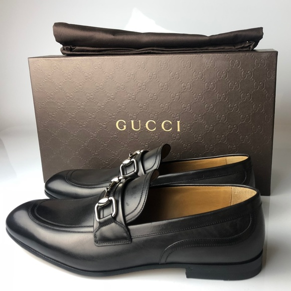 c7f6dfc14bbb32 Gucci Betis Glamour Horsebit Nero Black Loafers